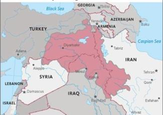 The process in turkey map showing areas of turkey syria iraq iran and other states gumiabroncs Gallery